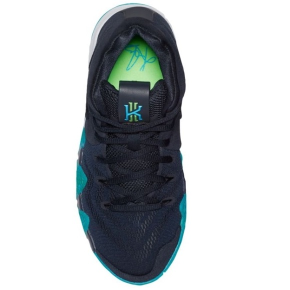 low cost e101f c1a77 Kyrie 4 Navy blue and neon green